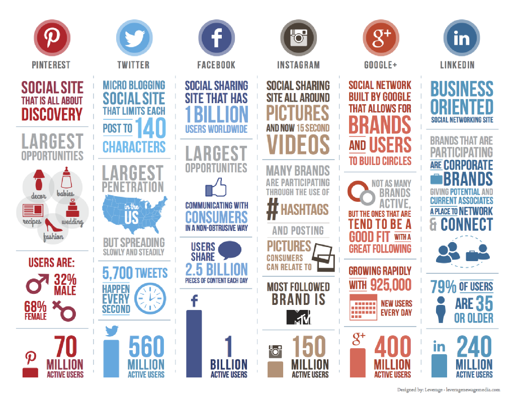 Social Network Outlook info graphic