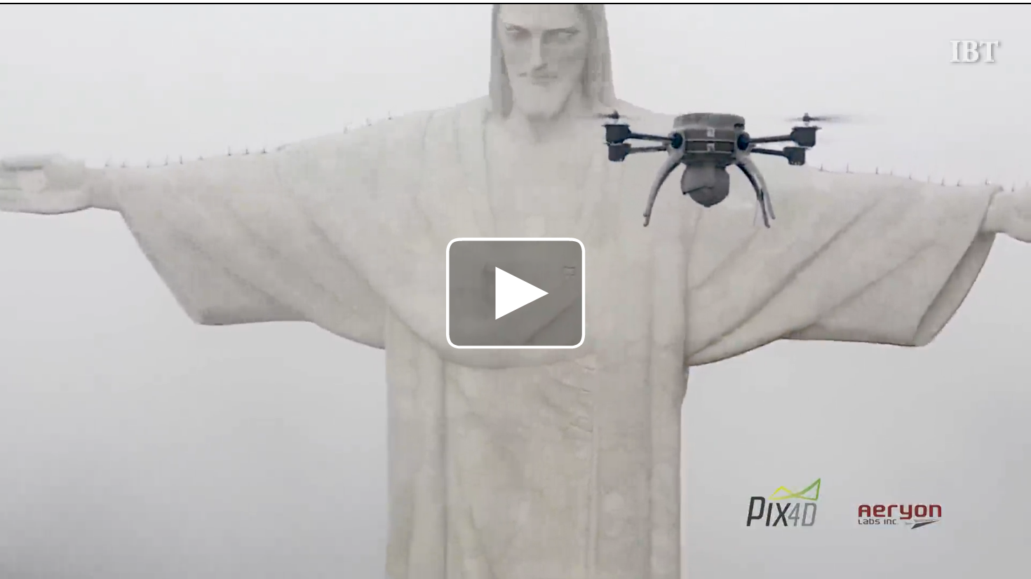 Christ the Redeemer mapped by drone to create first ever 3D model